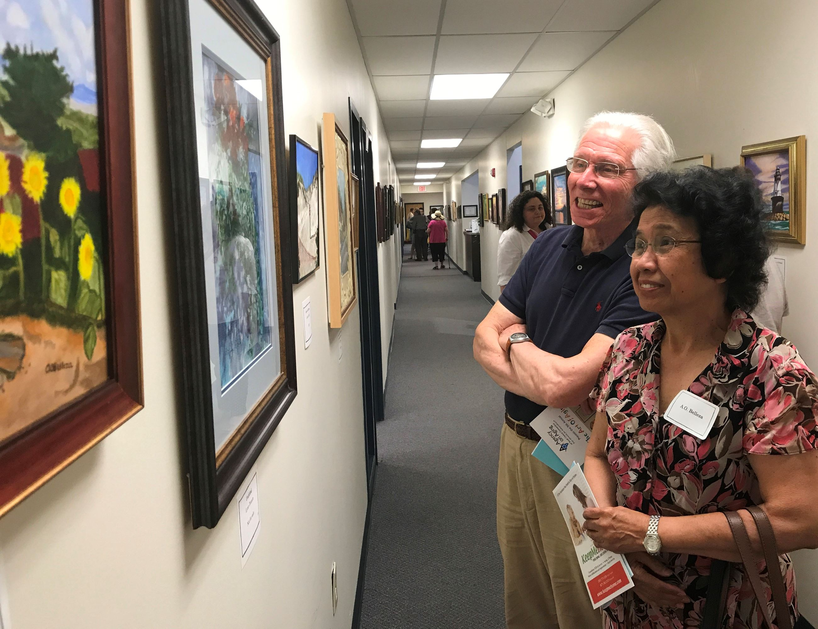 Our Woodbridge Center Artists participate in the Agency on Aging Senior Art Show