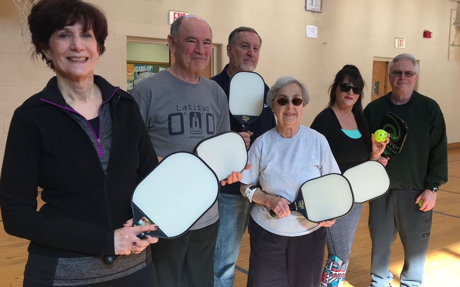 Our energetic Pickleball Players