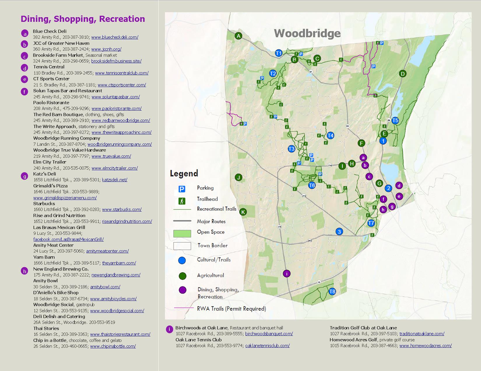 Woodbridge Agriculture, Trails and Retail Brochure page 2