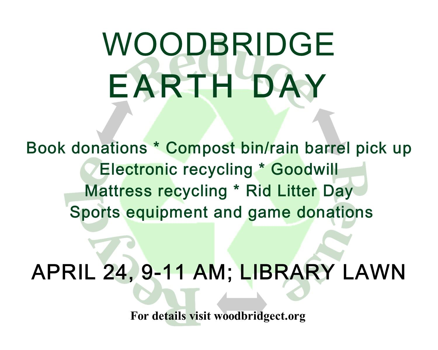Woodbridge Earth Day 2021 flyer