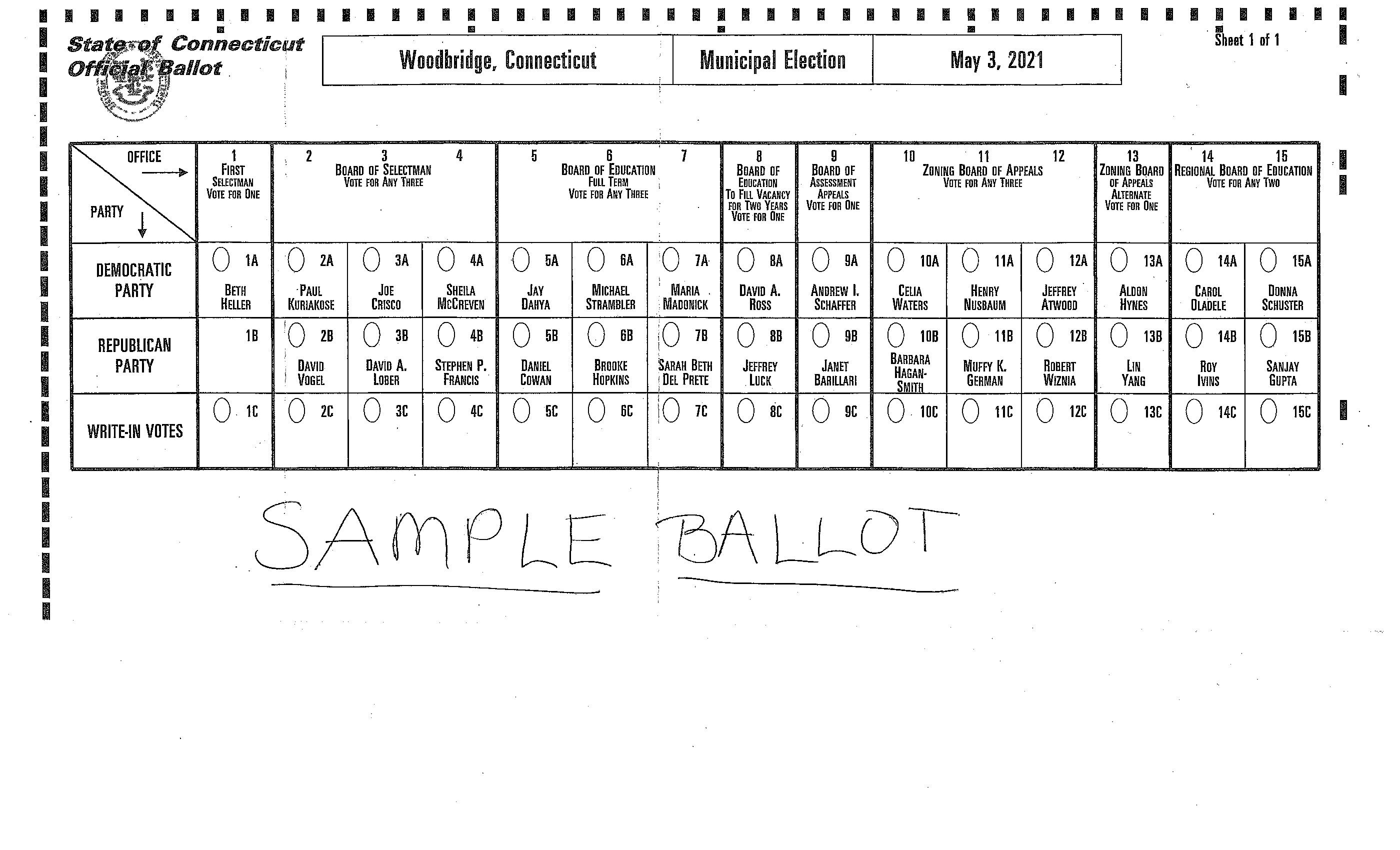 May 3 2021 sample ballot